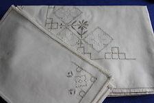 Service de table nappe 125 x 170 cm  + 6 serviettes en coton broderie NEUF