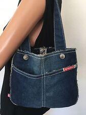 ROXY Jeans Bag Designer Fashion Shred Edges Boho Hip