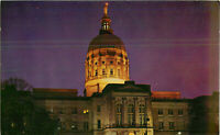 Postcard Capitol At Night Atlanta Georgia
