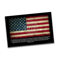 United States Military Oath with American Flag Wall Decoration Poster