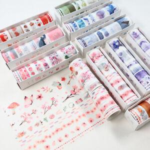 8 Rolls Sample Color Washi Tape Set| Bullet Journal Accessory