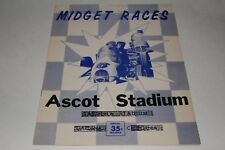 1950' s Midget Car Auto Racing Program, Ascot Stadium,