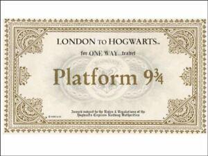 Harry potter hogwarts ticket platform 9 3/4Edible Cake Topper Kit Wafer or Icing