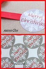 45 Merry Christmas Sticker Snowflake Gift/Food/Packaging/Seal UK SELLER