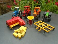 Britains farm vehicles tractors Ford Volvo Deutz Fiat harrow baler spreader