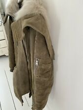 All Saints Shearling Parka Size Small