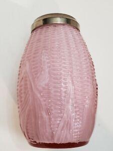 Rare Fenton L G Wright Pink Overlay Corn Maize Sugar Shaker