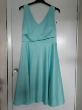 Stunning Ladies Plus Size 18 Monsoon Mint Green Dress Wedding Evening Fit Flare