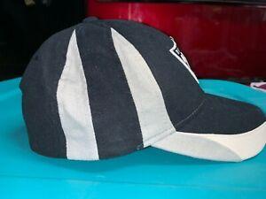 Nice Oakland/Las Vegas Raiders Black Baseball Cap Hat Grey White Side Strip