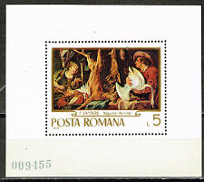 Romania Art Snyders Famous Painting Hunting Souvenir Sheet 1970 MNH
