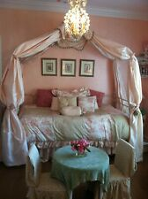 Twin Canopy Day Bed, Corsican wrought iron bed with beautiful details.