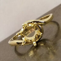 PRENOTCHED 8MM ROUND SOLITAIRE RING IN YELLOW GOLD SIZES 5-9 CR290-10KY