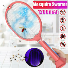Electric Mosquito Swatter Insect Fly Trap Racket Bat Handheld Rechargeable