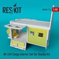 Reskit RSU48-0116 - 1/48 Mi-24 (V) Cargo interior Set for Zvezda Kit for model