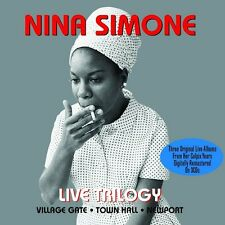 NINA SIMONE - LIVE TRILOGY - VILLAGE GATE - TOWN HALL - AT NEWPORT (NEW 3CD SET)