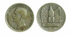 pci4643) Vittorio Emanuele III  (1901-1943) - 5 Lire Aquilino 1928 *