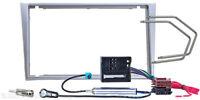 Radio Blende Doppel DIN OPEL Meriva SUZUKI Ignis Wagon Einbau Rahmen Adapter ISO