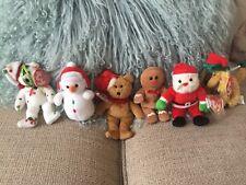 20 x Ty Xmas Jingle Beanie Babies & Baby Beanies Bundle