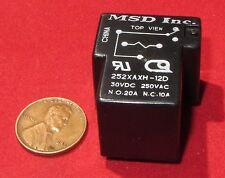 MSD Magnecraft Power Relay 12V DC Coil, 252XAXH-12D (NTE R53−5D20−12) 20A 250V C
