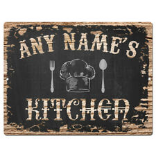 PP4233 ANY NAME'S KITCHEN Custom Personalized Chic Sign Decor Funny Gift