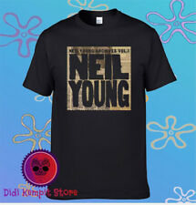 Neil Young Legend Archives Vol. I Logo Men's Black T-Shirt Size S to 3XL
