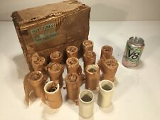 15 Vintage NOS 1920's American Lava Corp AlSiMag Ceramic Tube Radio Coil Forms