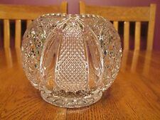 EAPG Vintage Tarentum Harvard Yard Clear Glass Rose Bowl Diamond Point Star