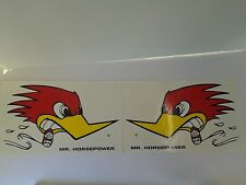 CLAY SMITH CAMS MR HORSEPOWER 2 STICKERS DECAL DIE CUT LARGE RAT ROD CUSTOM HOT