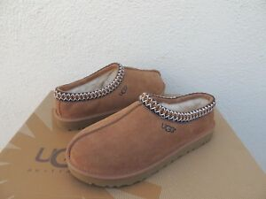 UGG TASMAN CHESTNUT SUEDE/ SHEEPSKIN SLIPPERS/ SHOES, MEN US 11/ EUR 44 ~ NEW