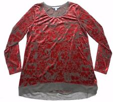 NEW WOMENS part sheer BLOUSE SHIRT TOP = VERA WANG = SIZE XL - ab38