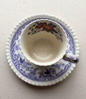 Vintage England Copeland Spode Demitasse Tea Cup and Saucer Transferware