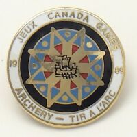 1989 Jeux Canada Games Archery Tir A l'arc Olympic Pin F914