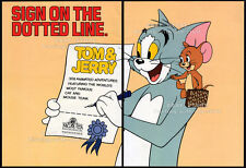 TOM & JERRY__Original 1983 Trade Print AD / poster supplement__Syndication promo