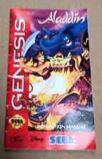 MINT Aladdin Disney Sega Genesis Game Instruction MANUAL ONLY (F24)