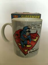 Superman Coffee Mug Cup Classic Design 10 oz Blue Red by Paladone Products