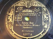 78 rpm- AL JOLSON - Sonny boy-My old Kentucky home - BRUNSWICK 82577