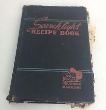 1943 Cookbook Searchlight Recipe Book Household Magazine W/ Extra Recipes & Book
