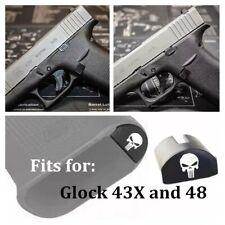 Punisher Skull Grip Frame Insert Plug for Glock 43X 48 Pistol Gun Magwell
