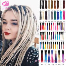 5PCS 100% Handmade Dreadlocks Synthetic Crochet Braiding Dreads Hair Extensions
