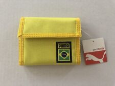 New Puma Yellow Green Blue Bi Fold Wallet NWT