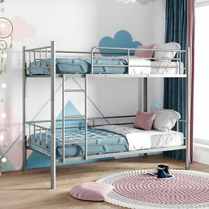 Modern Classic Bunk Bed Twin Over Twin Metal Bunk Bed Divided Into Two Beds