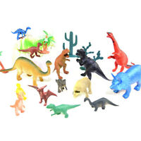 19 Pcs Set Plastic Dinosaurs Prehistoric Era Toys Educational Play Model New