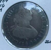 1804 NG M Guatemala 4 Reales - Scarce Silver - Great Eye Appeal