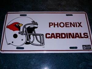 Vintage 1980's Phoenix Cardinals license Plate NEW NFL