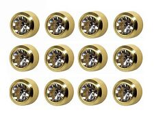Ear Piercing Earring Studs 4mm April C/Z Gold Plated Surgical Steel 12 Pair