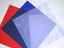🌸 12 in Vellum Paper Holiday Party Pack red blue patterned sky confetti Patriot