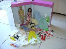 barbie vintage lotto kevin gabriella valigetta vinile + abiti accessori