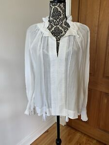 Aje Silk Cotton Tunic Peasant Top Excellent Condition Size 6 Fits up to 8