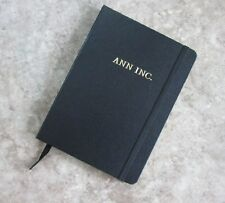 "New Black Hardcover Journal - 100 Pages 5"" x 7""  Ruled w ""ANN INC"" Logo on Cover"