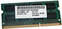 HP 2GB 2Rx8 PC3-10600S DDR3 SODIMM Memory 598856-002